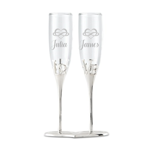 silver_heart_locking_base_bride_groom_champagne_flutes